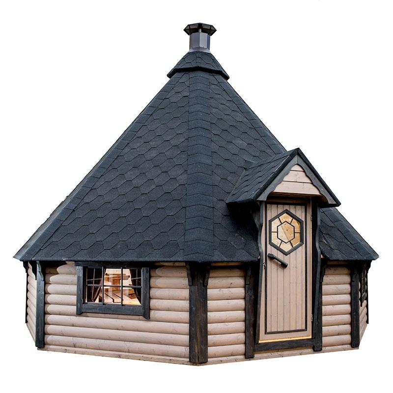 Casetta da giardino in legno iride 5 99 x h 4 68 m con for Tinozze da giardino