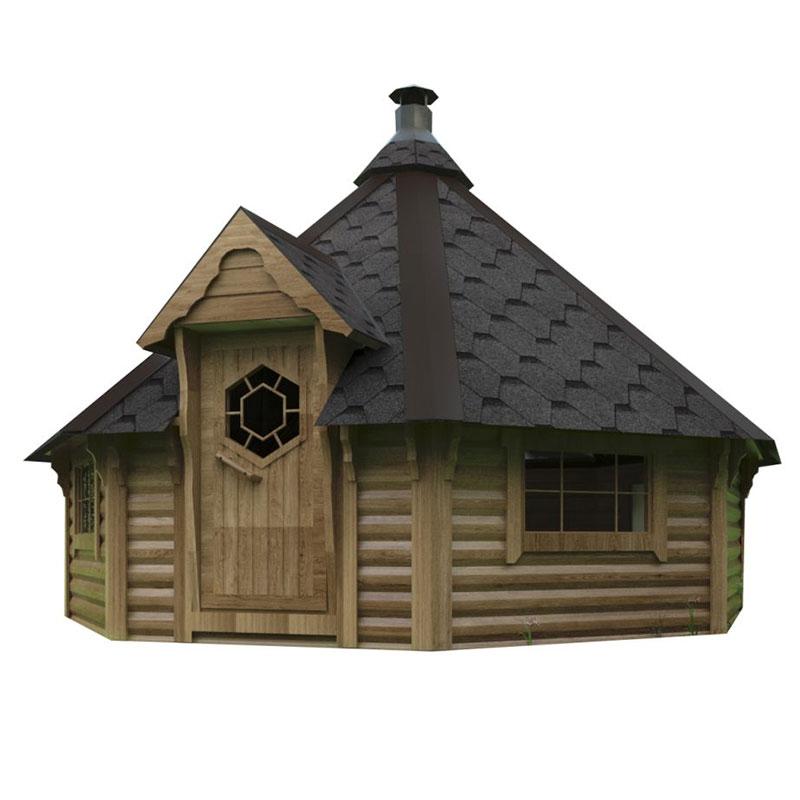 Casetta da giardino in legno maia 5 01 x h m con for Tinozze da giardino