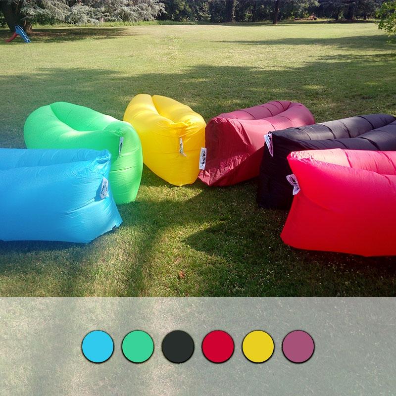 Sof gonfiabile hangout con tasche laterali vari colori for Poltrone gonfiabili