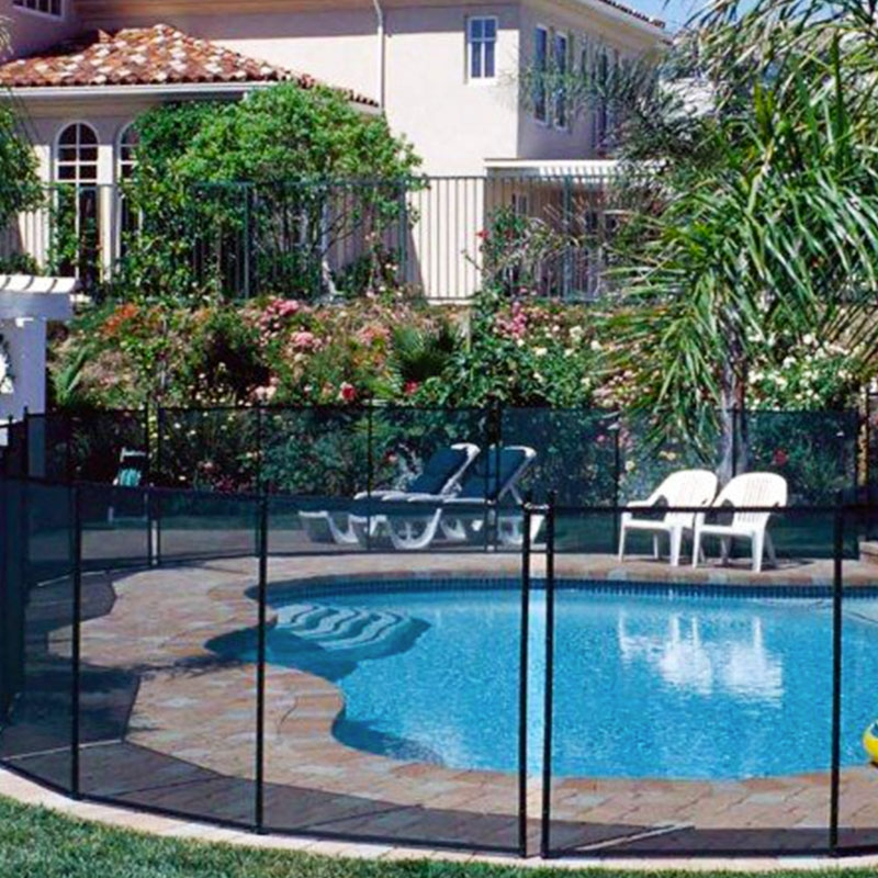Recinzione di sicurezza per piscina rete in alluminio - Recinzione piscina legno ...