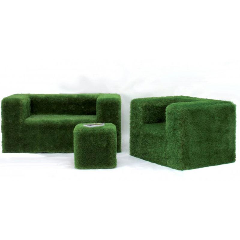 Salotto da giardino green rivestito con erba sintetica - Erba sintetica da giardino ...