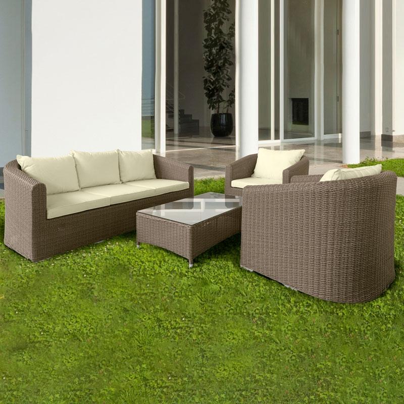 Salotto da giardino in wicker firenze con cuscini for Arredo giardino firenze