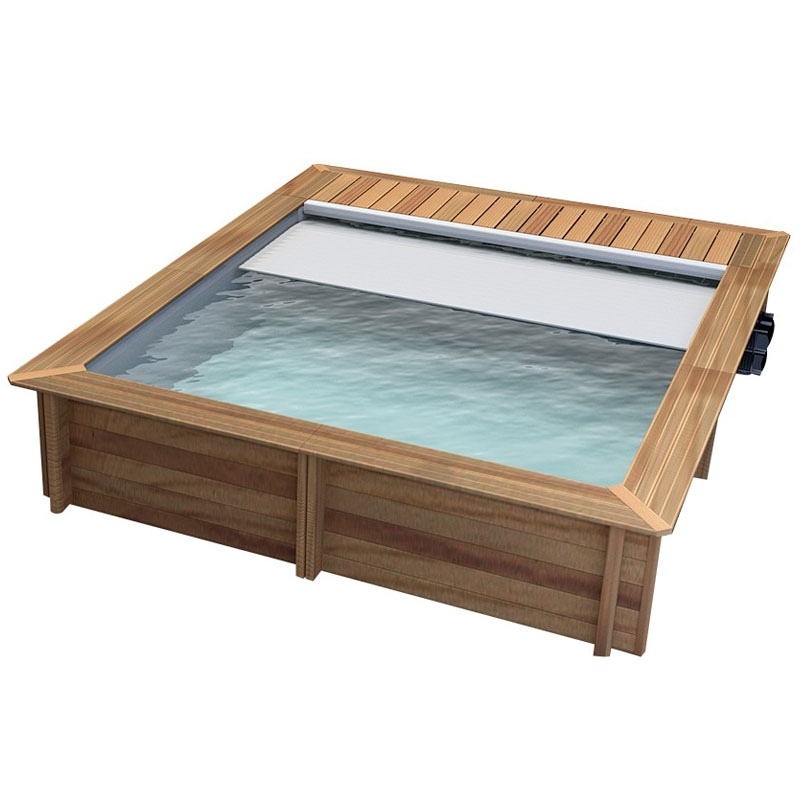 Piscina in legno naturalwood urban 4 20 x 3 50 x h 1 33 m - Costo piscina interrata chiavi in mano ...