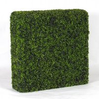 Siepe artificiale BUXUS in PVC a blocchi 100 x 100 cm