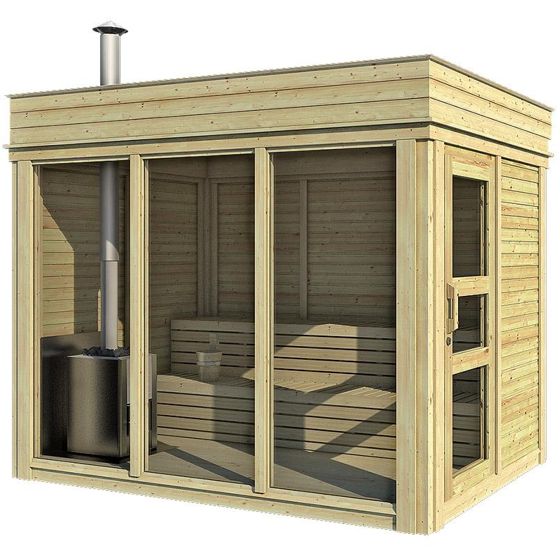 Sauna finlandese tradizionale da esterno ares 2 5 posti - Sauna da esterno ...