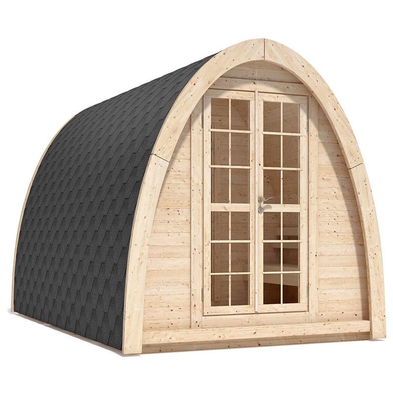 Sauna finlandese tradizionale da esterno modi 2 4 posti for Tinozze da giardino
