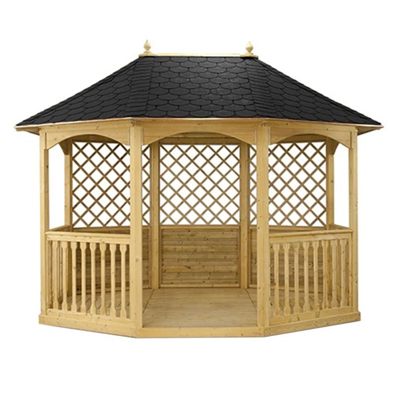 Gazebo da giardino in legno winchester pavilion for Gazebo arredo giardino