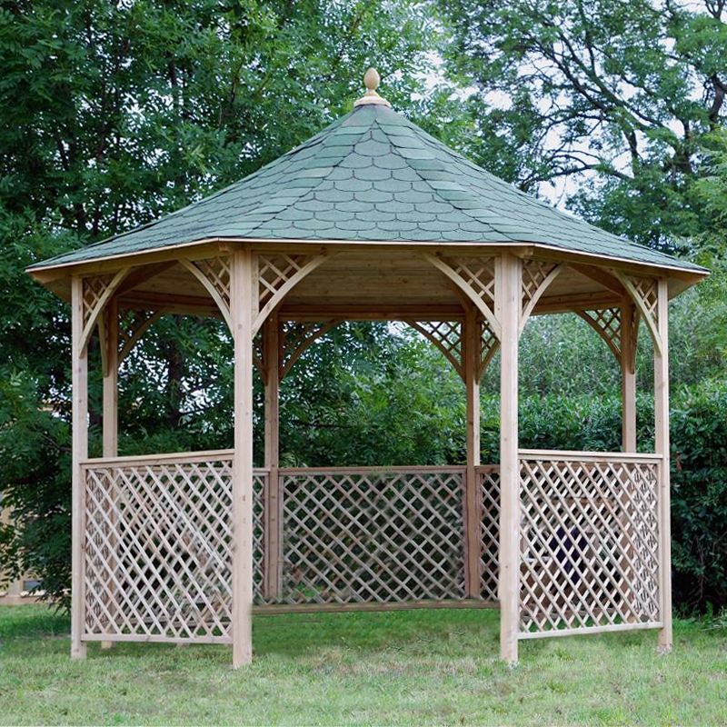 Gazebo da giardino in legno chopin for Tinozze da giardino
