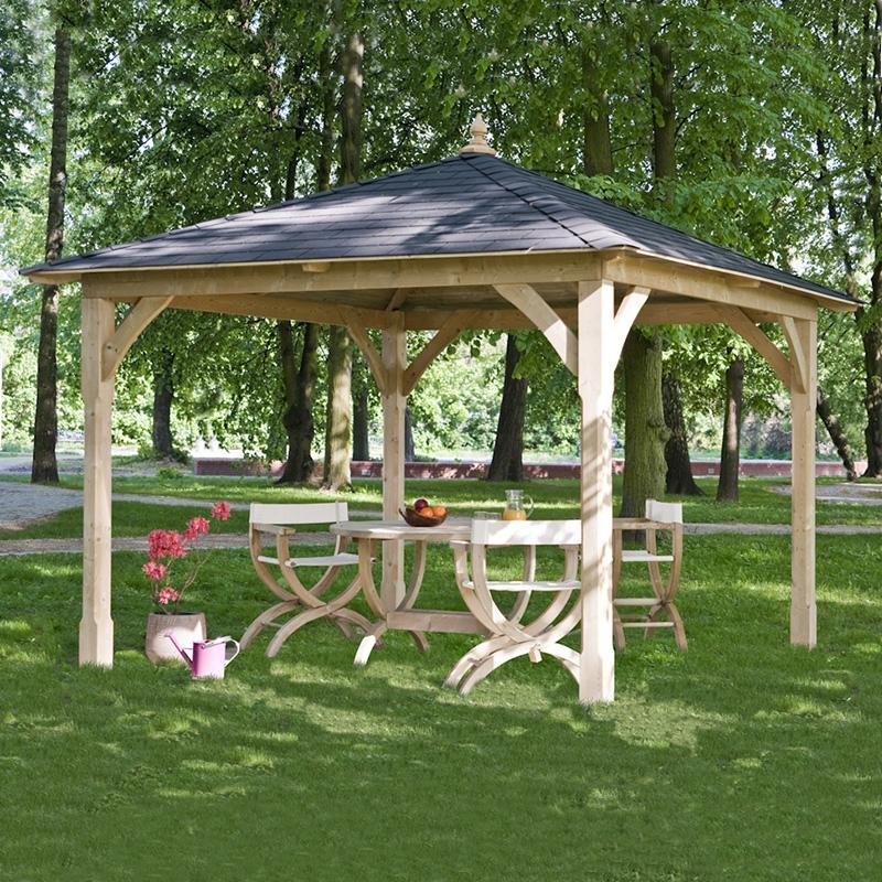 Gazebo a baldacchino da giardino in legno canopy for Arredo giardino in legno