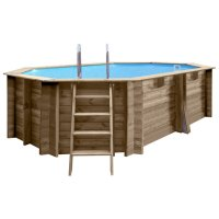 Piscina in legno PoolWood - 6,37 x 4,12 x h.1,33 m