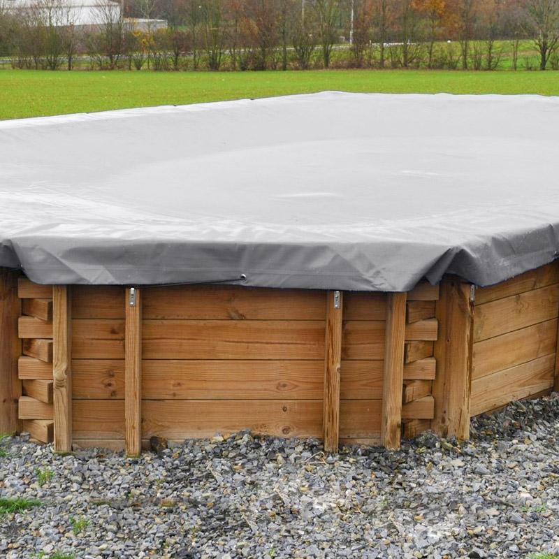 Copertura invernale per piscine in legno poolwood rettangolari - Piscine fuori terra rettangolari ...