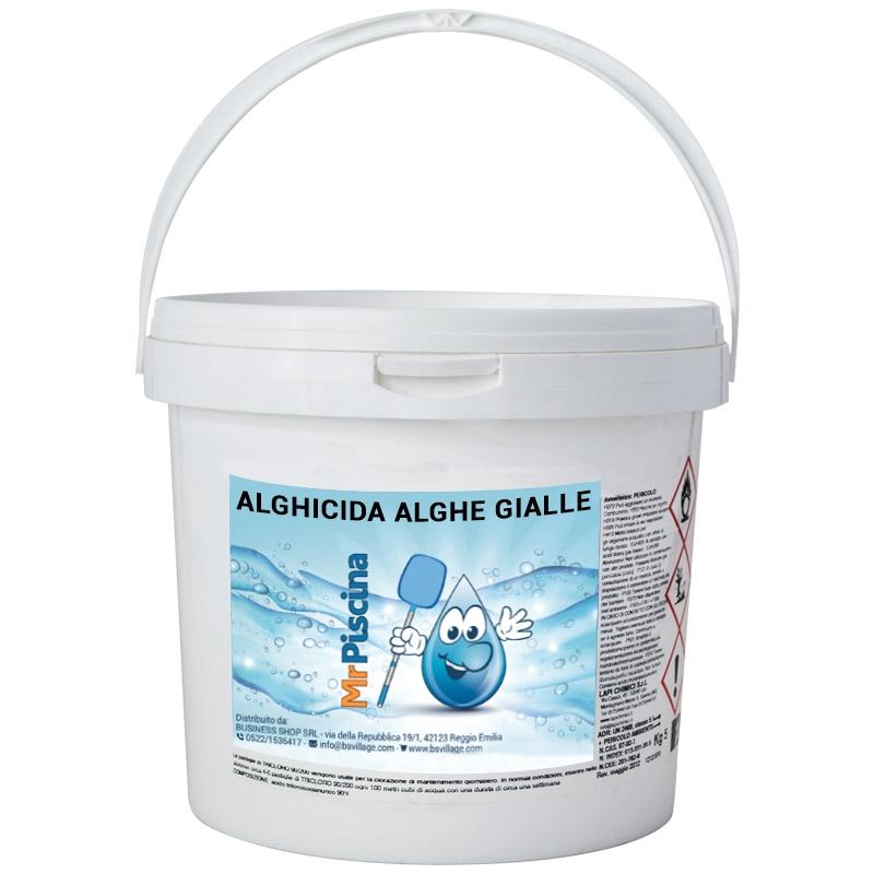 Alghicida per alghe gialle confezione da 5 kg for Antialghe per piscine