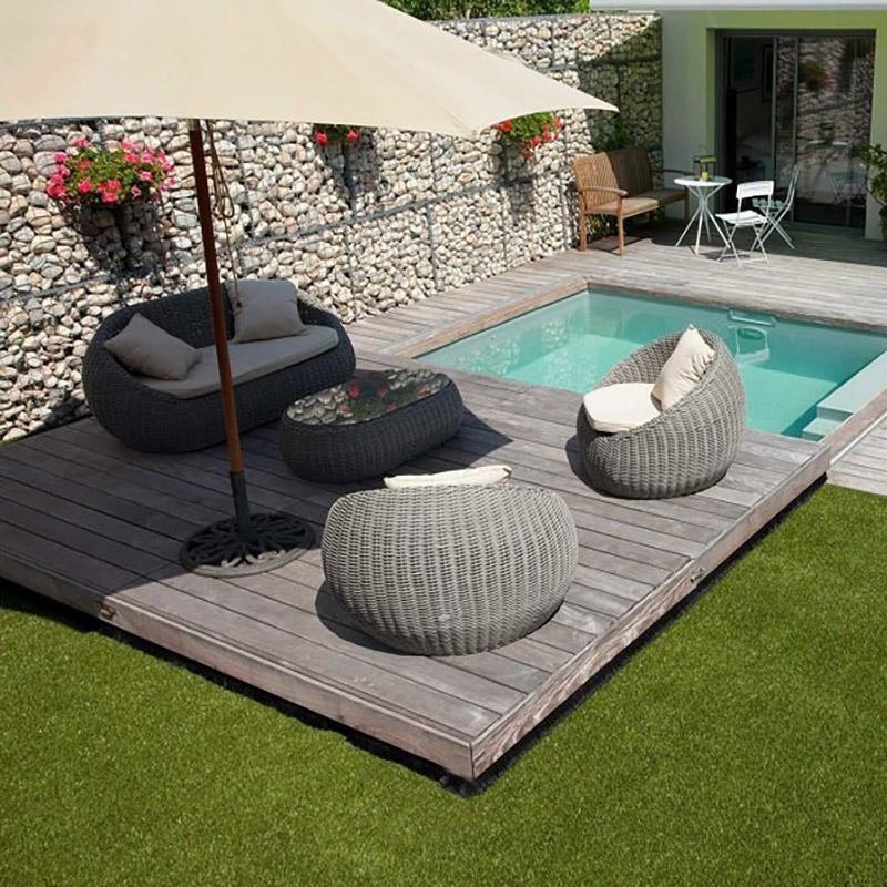 Copertura di sicurezza a terrazza ISOLA 150 Kg/m² in legno esotico ...