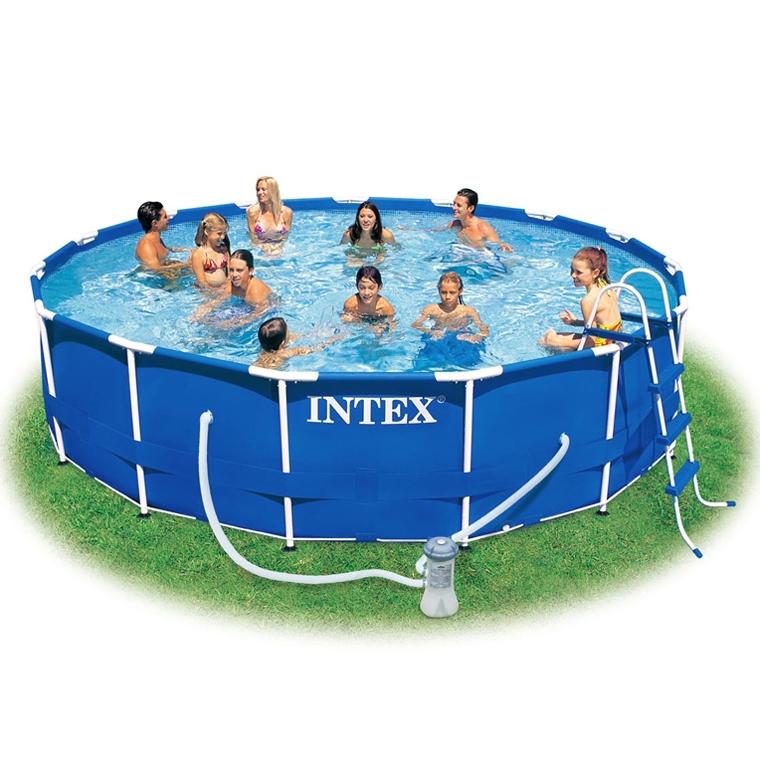 piscina intex metal frame fuori terra 4 57 x h 1 07 m