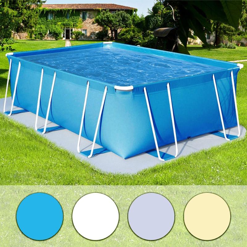 Piscina fuori terra italika soft rettangolare 3 80x2 80 for Attrezzi per piscina
