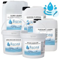 Kit CLORO CONTROL per Mantenimento acqua Piscina - da 55 a 100 mc