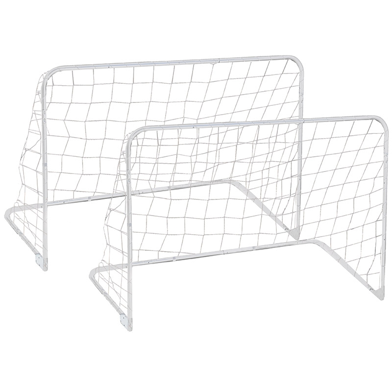 Set 2 porte da calcio pieghevoli TRAIN & SCORE 90 x 60 cm