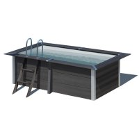 Piscina in legno composito WPC WOOD 3,26 x 1,86 x h 0,96 m