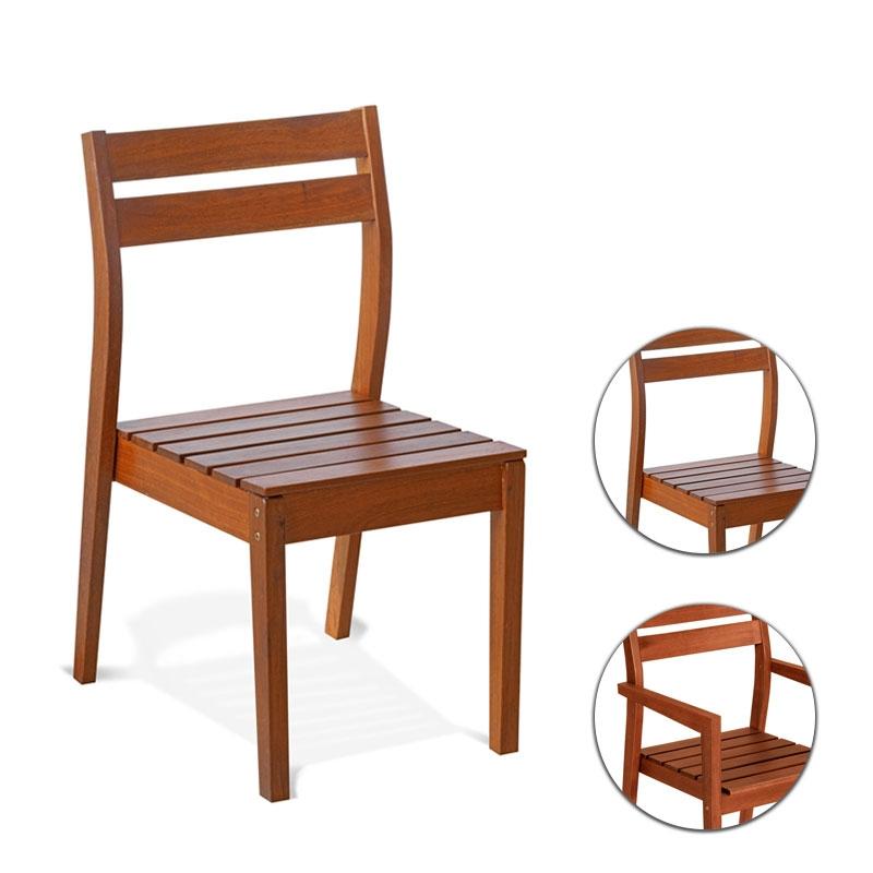 Sedie In Legno Da Giardino.Sedia E Poltrona Da Giardino In Legno Keruing Viola Impilabile