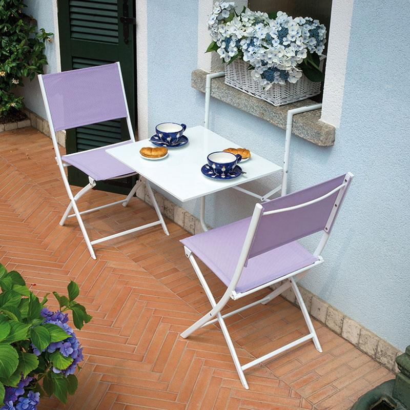 Tavolino da esterno RINGHIERA in ferro pieghevole, vari ...