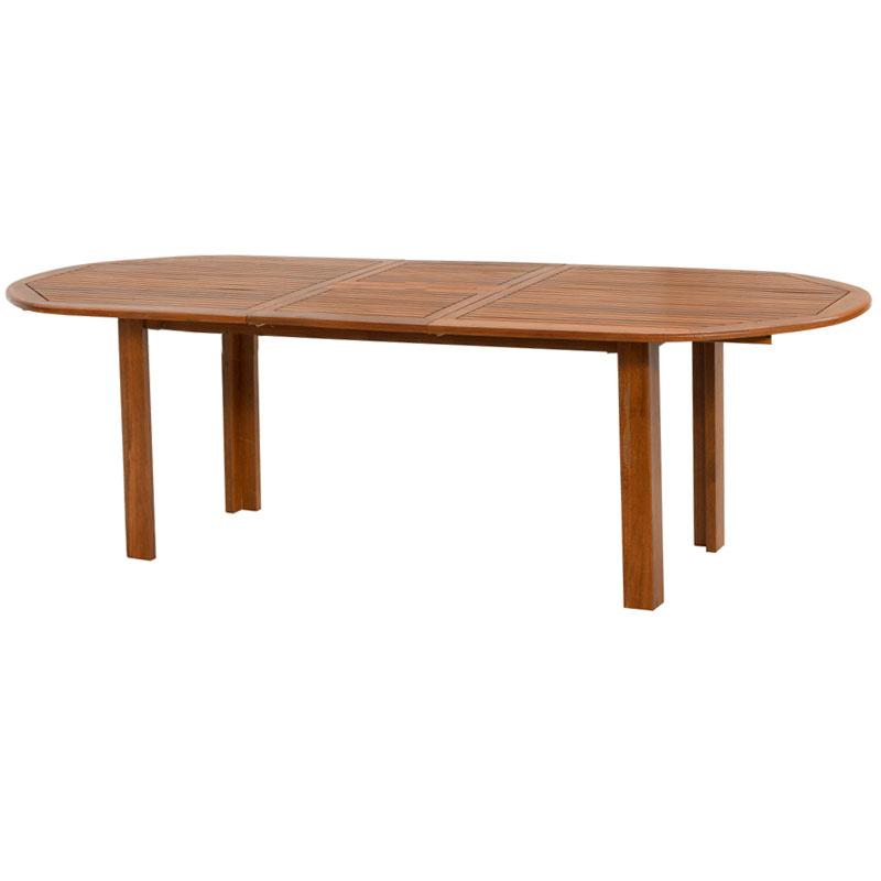 Tavolo Da Giardino Allungabile Usato.Tavolo Da Giardino Ovale In Legno Di Keruing Peonia Allungabile