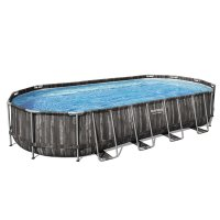 Piscina fuori terra ovale Bestway POWER STEEL 7,32 x 3,66 x h.1,22 m