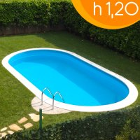 Piscina interrata OLIVIA 525 - 5,25 x 3,20 x h 1,20 m