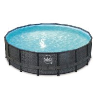 Piscina Fuori Terra SWING FRAME WICKER DARK Ø 4,27 x h 1,07 m