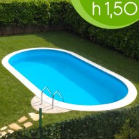 Piscina interrata OLIVIA 525 - 5,25 x 3,20 x h 1,50 m
