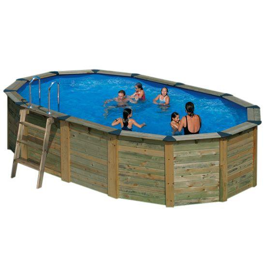 Piscina fuori terra gre nature pool serie island 745 - Piscina fuori terra ovale ...