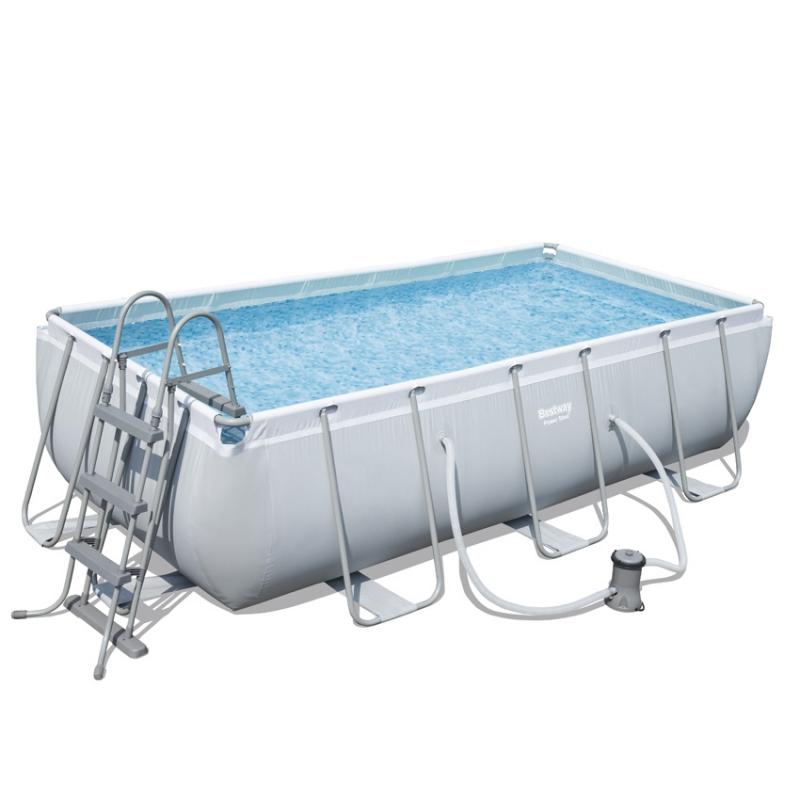 piscina fuori terra bestway steel frame pro rettangolare