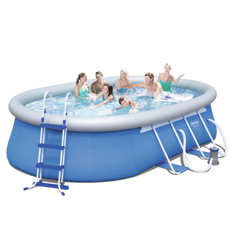 Piscina fuori terra bestway steel frame for Piscine rectangulaire bestway
