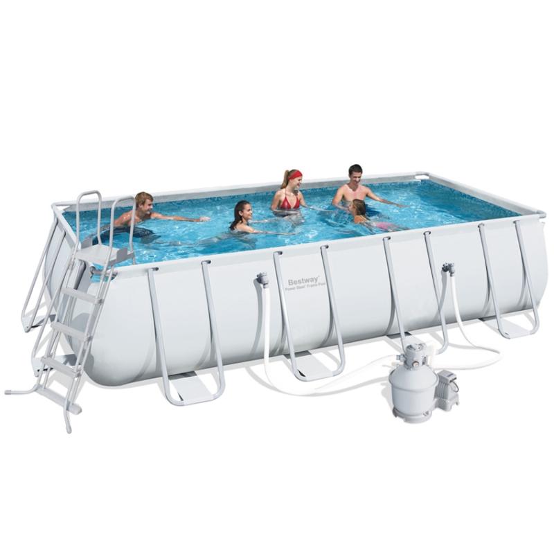Piscina fuori terra bestway steel frame pro rettangolare for Bestway piscine