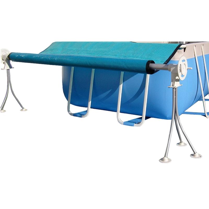 Rullo avvolgitore telescopico per piscine da 2 65 a 3 90 m for Coperture per piscine fuori terra intex