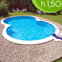 Piscina interrata ISABELLA 855 - 8,55 X 5,00 h 1,50 m