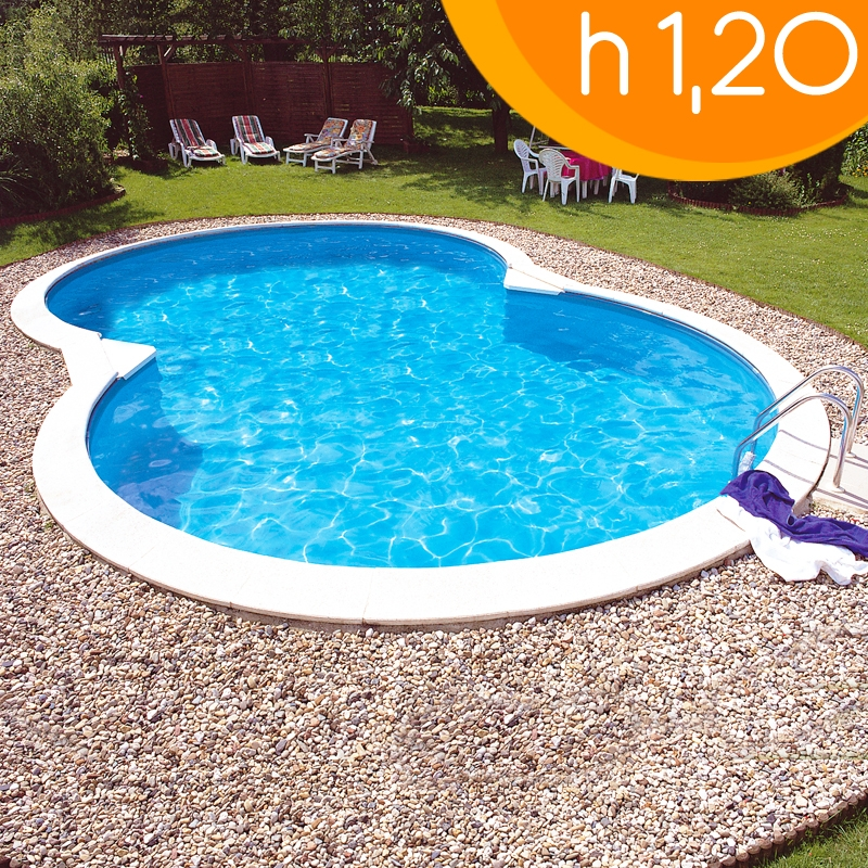 Piscina interrata isabella 855 l 8 55 x 5 00 h 1 20 m - Piscine interrate in acciaio ...
