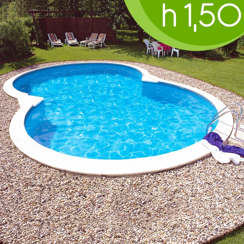 Piscina interrata acciaio isabella 525 5 25 x 3 20 h 1 for Piscina desmontable 5x3