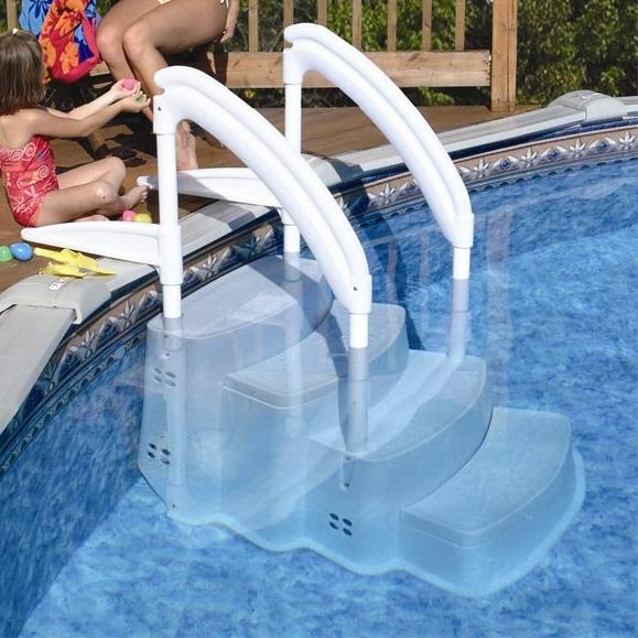 Scaletta amovibile in resina FESTIVA Lumi-O per piscina  BSVillage.com