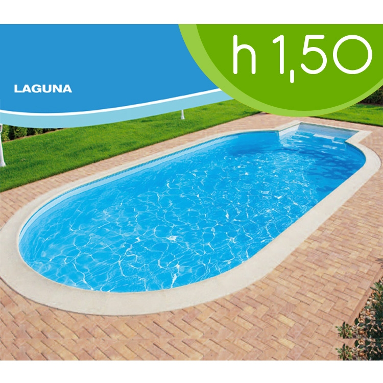 Piscina interrata laguna 10 kit friendly by zodiac 6 30 x for Piscina 50 m