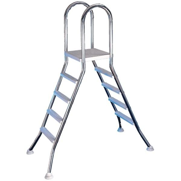 scaletta ponte in acciaio inox per piscine fuori terra