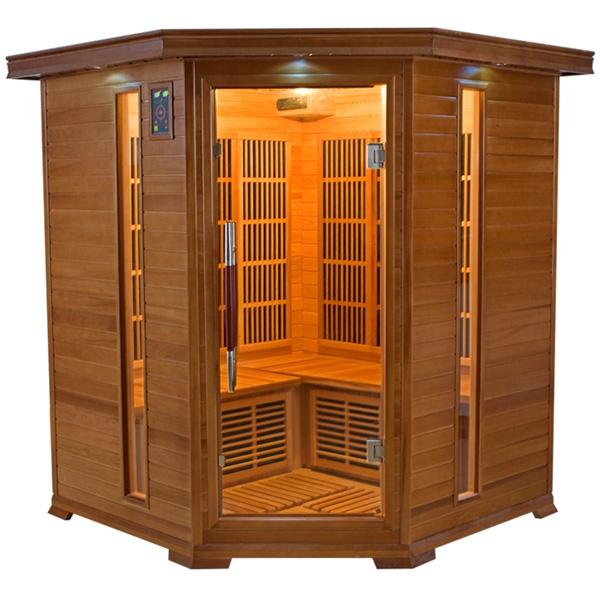 Sauna a raggi infrarossi Athena 3 - 4 posti  BSVillage.com