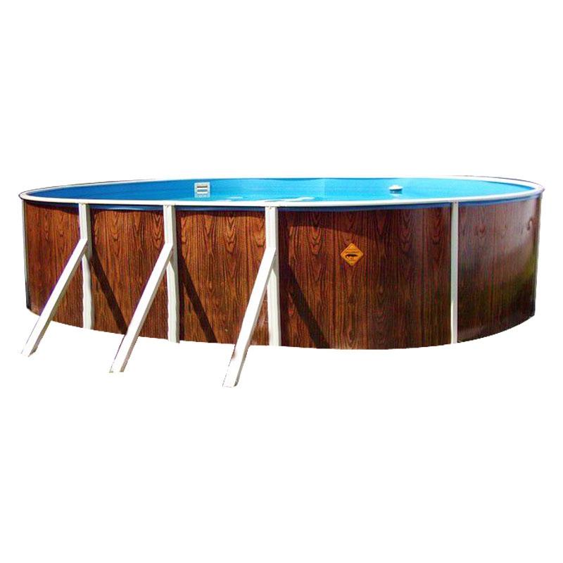 Piscina fuori terra ovale azuro 405dl legno for Piscina fuori terra ovale