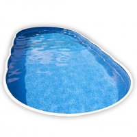 Piscina interrata AZURO 407DL ovale - 9,10 x 4,60 h 1.20 m