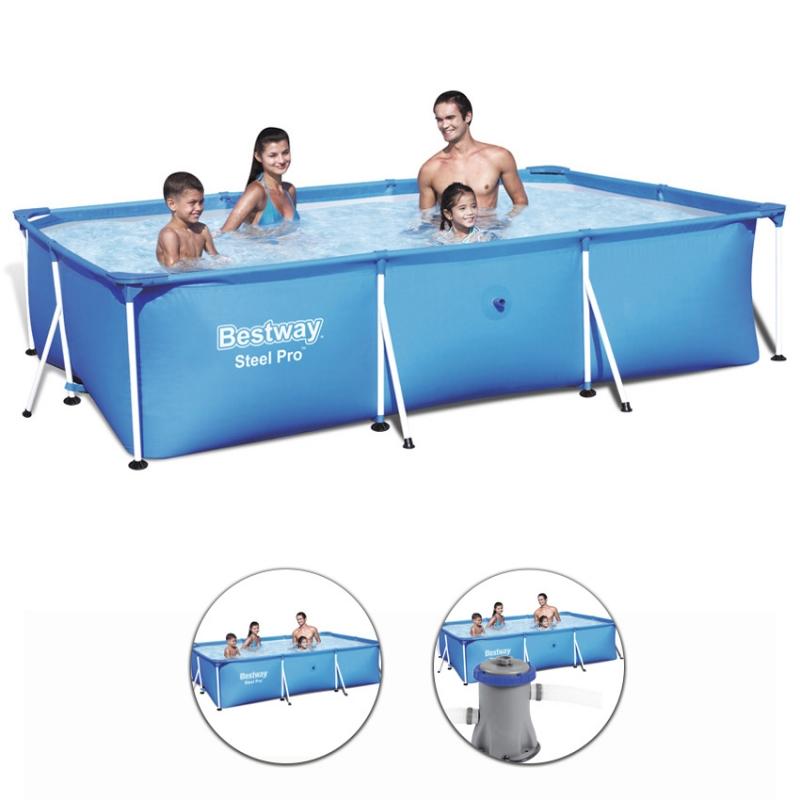 Piscina fuori terra bestway steel frame rettangolare 3 00 for Best way piscine