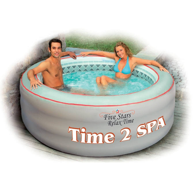 Piscina spa idromassaggio gonfiabile grey soft 2 14 h0 76 m con riscaldamento 4 posti - Piscina spa gonfiabile ...