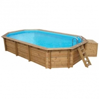 Piscina in Legno NaturalWood 550 - 5,53 x 4,08 h1,33 m