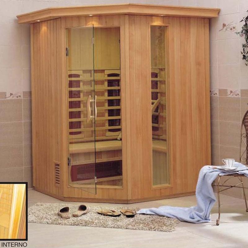 Sauna Angolare per 3 persone a raggi infrarossi  BSVillage.com