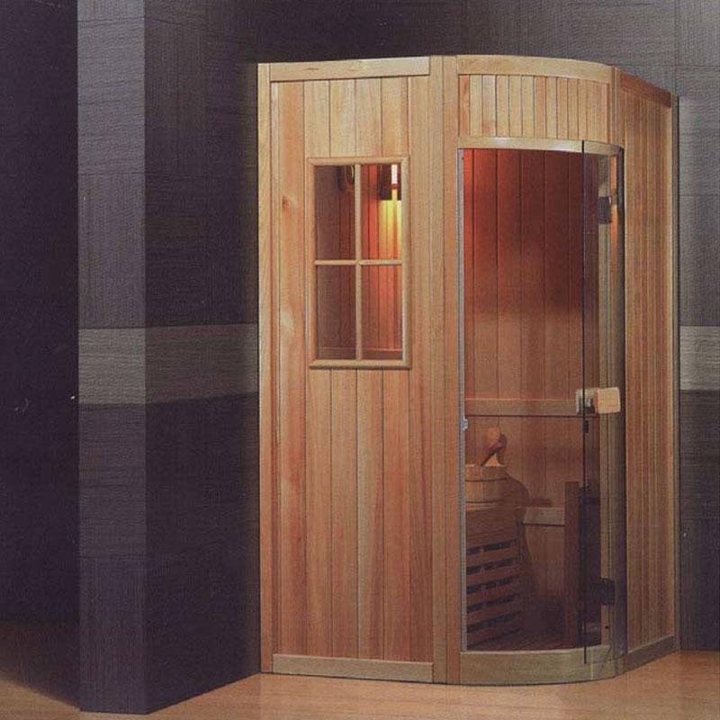 Vendita Sauna Tradizionale Finlandese Angolare Con Acessori