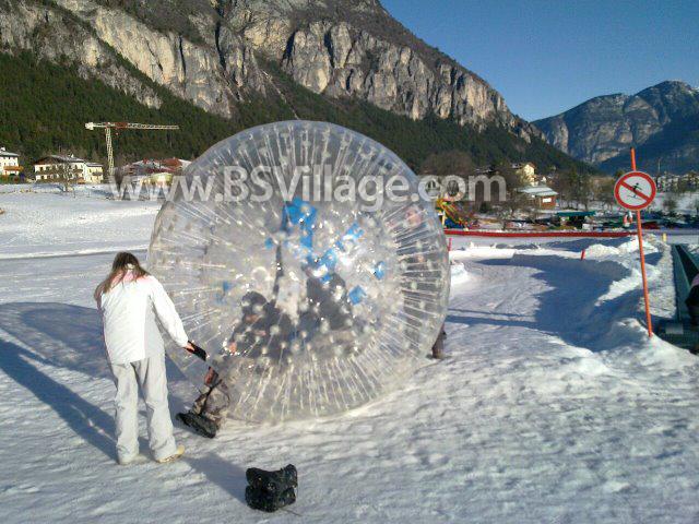 Palla zorb gonfiabilie SNOWY in tpu per neve