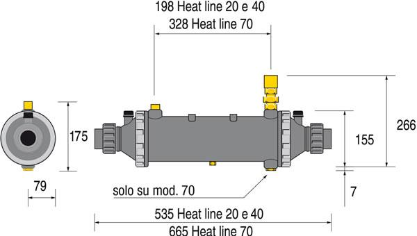 Scambiatore di calore multitubolare nudo e senza circolatore Plus